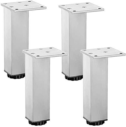 KISNAD Patas de gabinete Muebles de pies 4 unids Muebles Ajustables Piernas Gabinete Metal Piernas Aluminio Aleación TV Gabinete Sofá Sofá Soporte Piernas (Size : 30cm/11.8in)