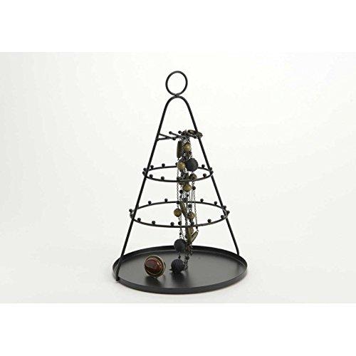 Porte-bijoux en forme de cone, de couleur noire, Amadeus