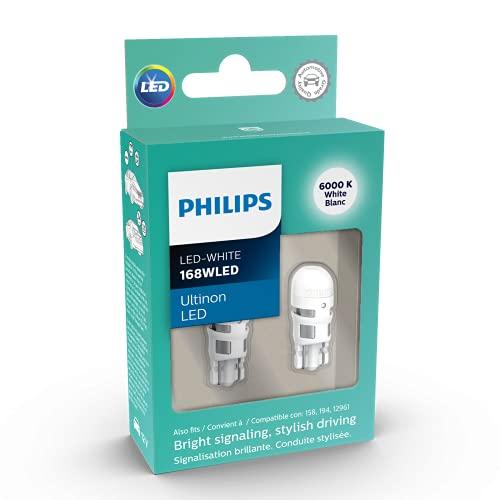 Philips 168WLED Ultinon LED (White), 2 Pack