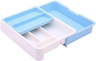 HornTide 3-en-1 Tiroir Plateau Extensible Ustensile De Rangement Organisateur en Plastique Titulaire Vaisselle pour Couver...