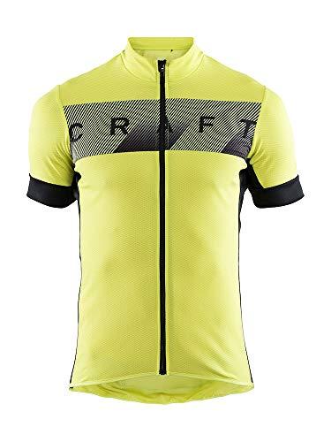 Craft Reel Herren Fahrradtrikot Bike, Herren S Lime/Schwarz