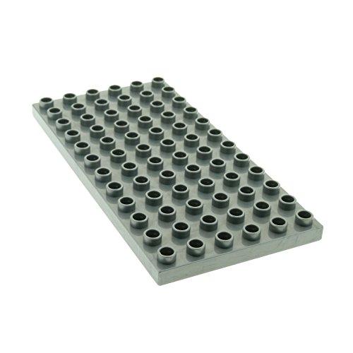 1 x Lego Duplo Bau Basic Platte perl hell silber grau 12 x 6 Noppen 6x12 Grundplatte für Set Intelli-Train 3325 4196