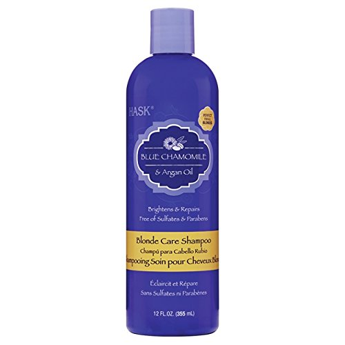 HASK Blue Chamomile with Argan Blonde Shampoo, 355 ml