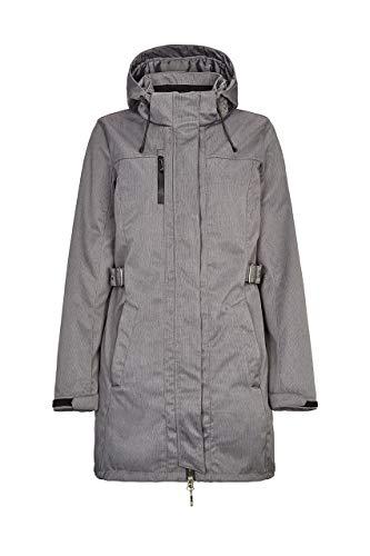 killtec Softshellparka Damen Laili - Damenjacke mit abzippbarer Kapuze - Damen Outdoorjacke mit Wassersäule 10.000 mm - Softshelljacke ist wasserabweisend, anthrazit, 38