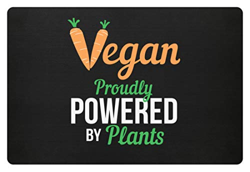 Generieke Vegan Proudly Powered By Plants Vegetarisch dierliefde - eenvoudig en grappig design - deurmat