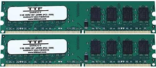 4gb (2x2gb) Ram Memory for Asus/asmobile M3 Series Motherboard M3a78, M3a78-cm, M3a78-em
