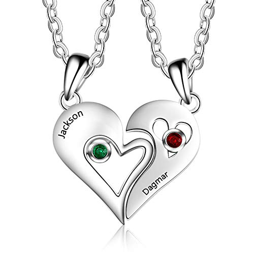 commercial Wendy made a bespoke couple necklace that imitated a heart charm … customize friend necklaces