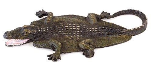 Cocodrilo de bronce–pintadas a mano de Viena Bronce–Animales–Figura pintada a mano figura de cocodrilo–Vienna Bronce–Figura de bronce–de Online comprar–Figura decorativa