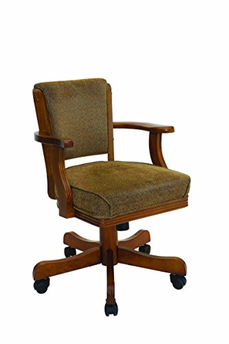 Mitchell Upholstered Arm Game Chair Olive-brown and Amber