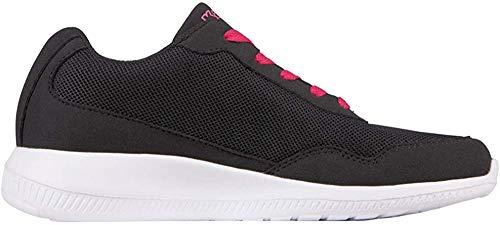 Kappa FOLLOW | Freizeit-Sneakers für Frauen und Männer | super-leicht, modisch und zeitlos | angenehmes Tragegefühl | atmungsaktiv, Farbe 1122 black/pink, Größe 41