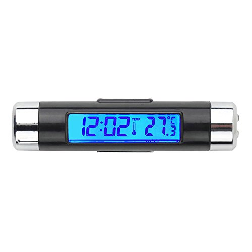 Viviance ZHVICKY Auto LCD Digitale Backlight Automotive Thermometer Klok Kalender Accessoires