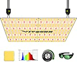 VIVOSUN Latest VS4000 LED Grow Light with Samsung LM301H Diodes & Brand Driver Dimmable Lights Sunlike Full Spectrum with Grow Room Glasses for Indoor Plants Seedling Veg and Bloom Plant Growing Lamps