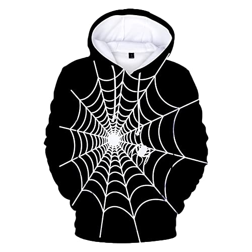 YingeFun Mens Pullover Shirts for Men 3D Print Fleece Pullover Hoodie Halloween Costumes Tenns Sweatshirts with Pocket Silver