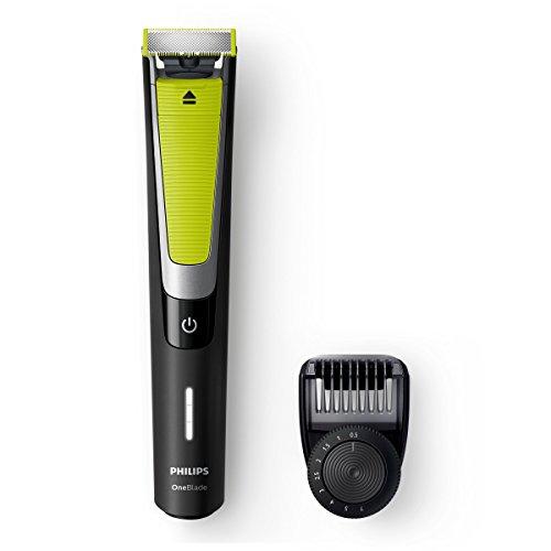 Philips OneBlade Pro QP6505/21 Rasierer für den Nass- und Trockenbart, Schwarz – Rasierer für den Bart (0,5 mm, 7 mm, Tasten, Schwarz, AC/Baterry, 60 min)