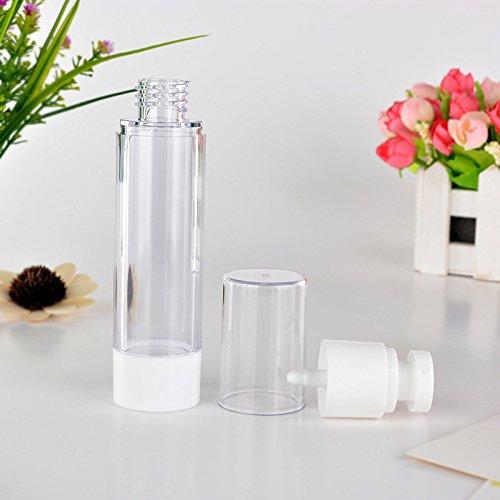 30ml/50ml Transparent Conteneur Vide Portable Parfums Pulvérisateur Maquillage Airless Bouteille de Parfums Flacon Pompe