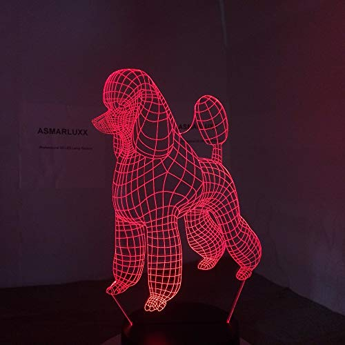 Poodle New Cute Dog 3D Lamp 7 Colors Led Night Lamp for Kids Touch Led USB Table Lampara Lampe Baby Sleeping Decor Nightlight