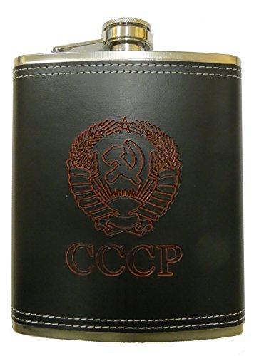 XXL Flachmann Set Wappen der UdSSR 500ml. CCCP / Edelstahl