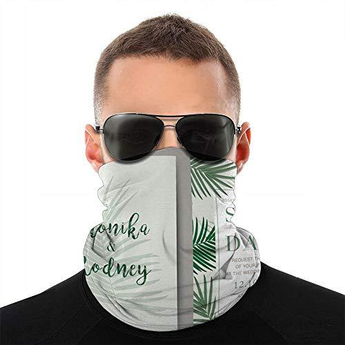 Kaixin J Hochzeitskarte Vorlage Einladung Natur Massage Gesicht Schal Abdeckung Outdoor Sport Laufen Frauen Männer Gesicht Abdeckung Vielfalt Gesicht Handtuch Hals Halsband