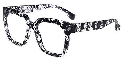 Firmoo Blaulicht Brille Entspiegelt ohne Sehsärke Damen, Blaulichtfilter Computer Brille gegen Kopfschmerzen Augenmüdigkeit, UV Blaulichzschutz Bildschirme Brille, Eckige Moderne Brille Bunt