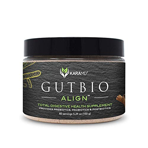KaraMD GutBio Align | Doctor Formulated Total Gut Health Supplement | Prebiotics, Probiotics & Postbiotics for Men & Women | Help Heal Leaky Gut, Improve Energy & Weight Management, 40 Servings