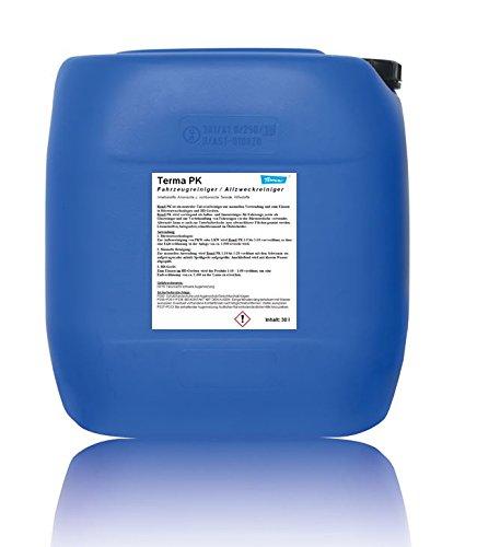 Terma PK Vorreiniger als Außen- und Innenreiniger für Fahrzeuge, auch für Hochdruckgeräte & zur Autovorwäsche, Universalreiniger Schaumarm, Autopflege Konzentrat 1:1 bis 1:20 (30 Liter)