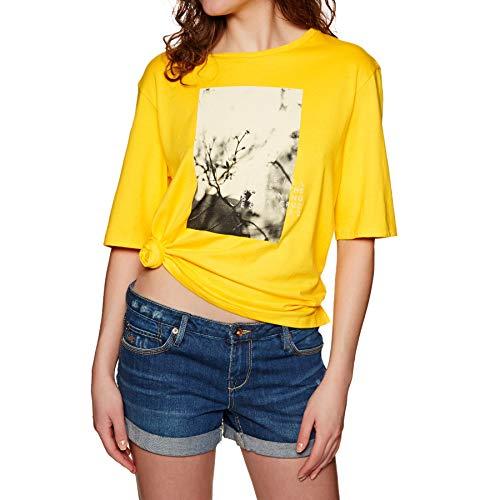 O'Neill LW FELINES of ONeill T-SHIRT-2033 Vital Yellow-XS, dames, geel