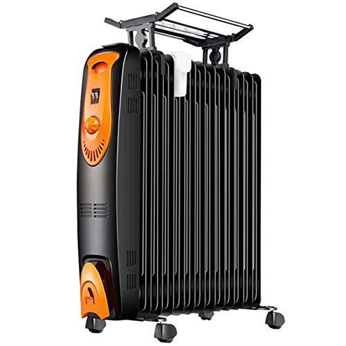 HKDJ-draagbare oliegevulde radiator, veilige warmte met warteluchtsysteem en thermostaatbediening, veiligheidsuitschakelfunctie
