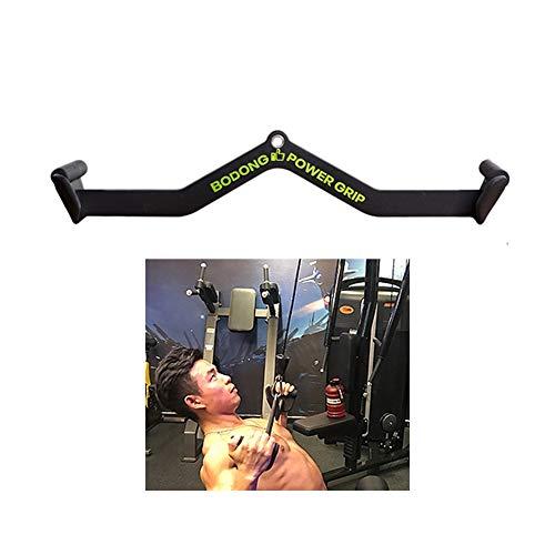 ZLLM Latzugstange LAT Kabel-Maschine Crimpen Stangengriff Zubehör, LAT Pull-Down-Stange Kann Gummi Fitness Trainingsgeräte Erfassen, Trolley Rudergerät Krafttraining (Color : L71cm)