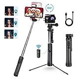 Mpow Perche Selfie Bluetooth, All en 1 Selfie Stick Trépied Bton de Selfie avec Télécommande...