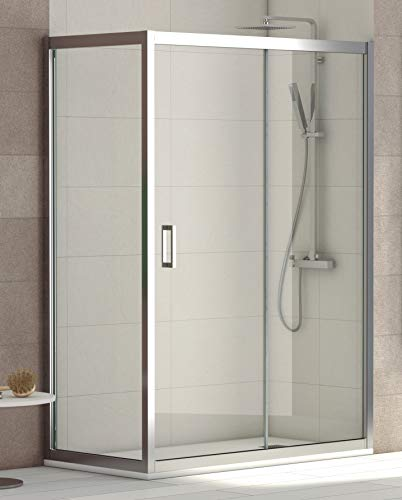 ALABAMA Mampara Angular de ducha, Easy Clean, Fijo de 70 cm de...