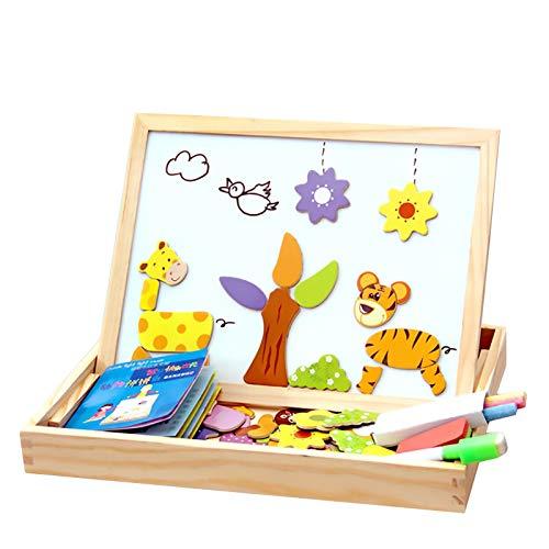 ZFF 3D-Puzzle Early Education Puzzle - Holzpuzzle Magnet Puzzle-Spielzeug-Geschenk 100pcs Kinder Magnetic Animal Puzzle Circus Zeichenbrett Pädagogisch und interessant. (Color : 01)