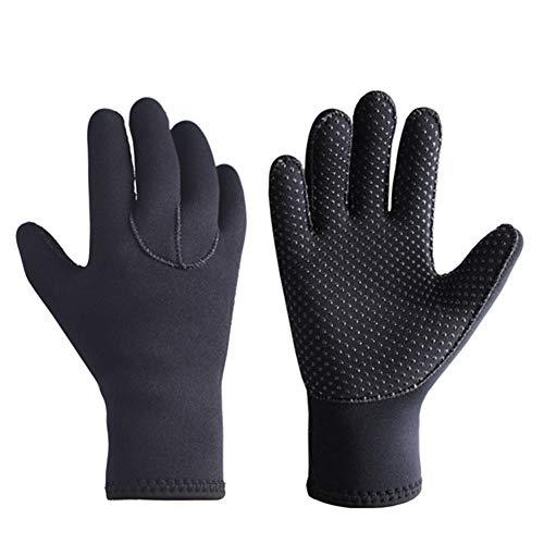XUJINGJIE Neoprenhandschuhe 3mm Neopren Thermo Anti-Rutsch Kajak Handschuhe Für Männer Frauen,L