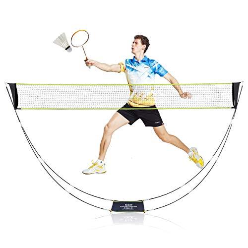 Aceshop Tragbar Badminton Netz Tragbares Badmintonnetz Set mit Ständer Tragetasche Faltbar Volleyball Tennis Badminton Netz für Court Backyard Beach Indoor Outdoor Kein Werkzeug Erforderlich