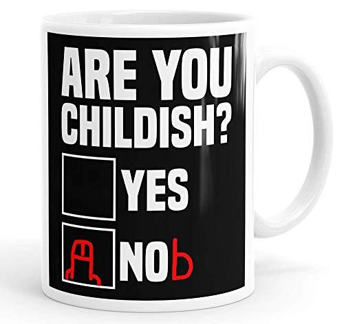 N\A ¿Eres Infantil? Taza Divertida Taza