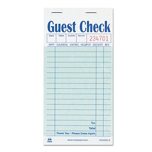 1Durchschlag Carbon Guest Check Buch
