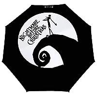 ナイトメアー ビフォア クリスマス ムービー 月 ロゴ 2 折りたたみ傘 梅雨対策 晴雨兼用 折り畳み傘 超撥水 軽量 強風対応 紫外線カット 日焼け止め メンズ レディース 持ち運びが簡単