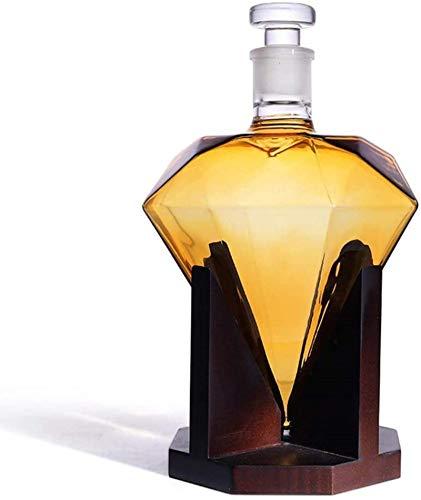 Whiskey CARAFE WHISKY Decanter, 850 ml de cristalería Diamante Diamonek Decanter Base para licor, escocés, vino de Borbón, Brandy, Bourbon Whiskey Regalo para hombres