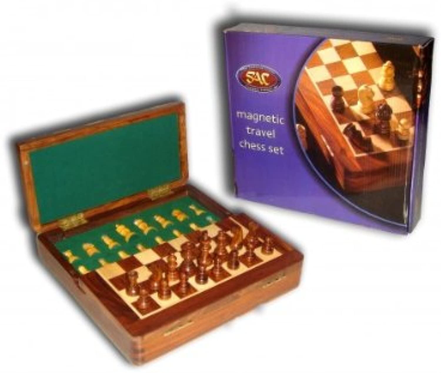 7  x 7  Magnetic Square Wooden Chess Set  SAC