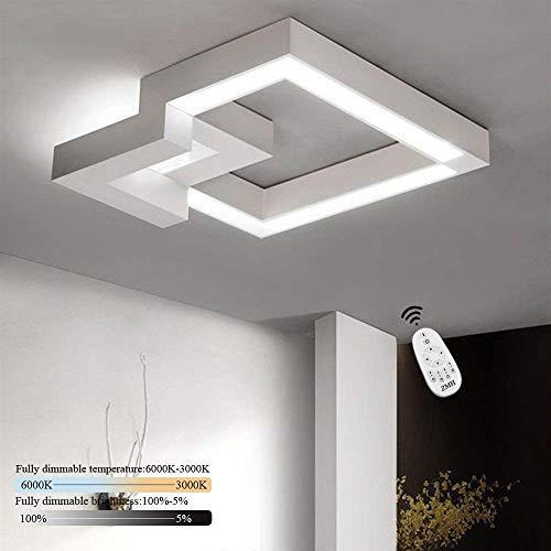 ZMH LED Deckenleuchte Deckenlampe Wohnzimmer 32W Dimmbar mit Fernbedienung Deckenbeleuchtung Badlampe Wohnzimmerlampe Esszimmer Arbeitszimmer Schlafzimmer