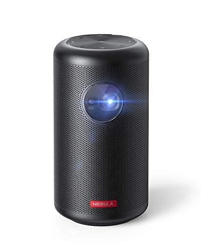 Anker NEBULA Capsule Max, Mini Projektor in Pint-Größe, Beamer mit WLAN und 200 ANSI Lumen, 8W Lautsprecher, 100 Zoll Bildformat,4 Stunden Wiedergabezeit,ideal für Draußen(Generalüberholt)