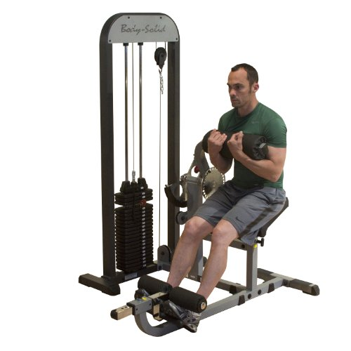 Body-Solid GCAB-STK Pro Select Ab and Back Machine with 210-Pound Weight Stack, Home and Commercial Gym