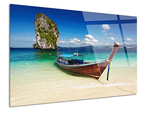 DECLINA - Cuadro plexiglás, decoración de Pared, plexiglás, Cuadro Cristal acrílico, Pizarra de plexiglás, Playa de Thailanda, 50 x 30 cm