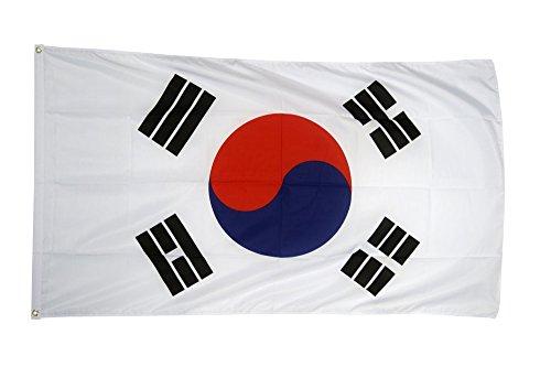 Flaggenfritze Fahne/Flagge Südkorea - 150 x 250 cm + gratis Sticker, XXL-Fahne