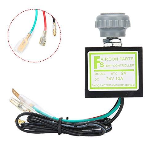 Interruptor de temperatura A/C 10A electrónico profesional Control de temperatura duradero aire acondicionado termostato electrónico para modificación de ajuste(24V)