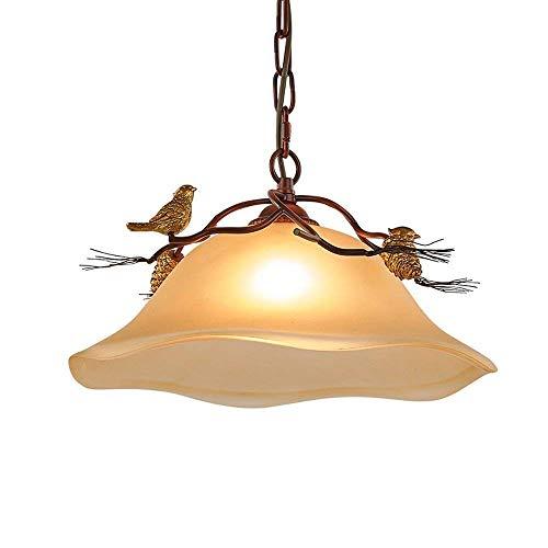 Vintage Style plafondlamp Edison Kroonluchters Kroonluchter Geel Glazen Plafond Lamp, for Living Room, Bar, Cafe, Eetkamer