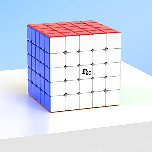 AKDSteel YJ MGC 5x5 Magic 3D Puzzle Würfel Glatt rotierend Magnetic Speed Cube Puzzle Brainteasers Spielzeug für Kinder Erwachsene Geschenke