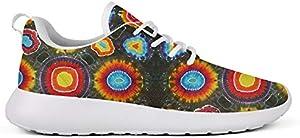 WZLAN Trippy Tie Dye Art Womens Running Shoes Stylish Rubber Sole Gym Walking Sneaker