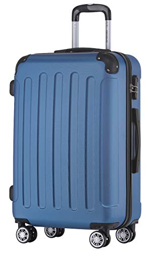 BEIBYE Zwillingsrollen Hardcase Reisekoffer Koffer Trolleys Hartschale in XL-L-M in 14 Farben (Diamondblau, Handgepäck (55cm))