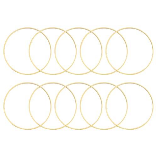 IMIKEYA 10 Stück 20cm Bambus Ringe Bambus Hoops Drahtring zum Basteln für Traumfänger Ring, DIY Handwerk Dream Catchers