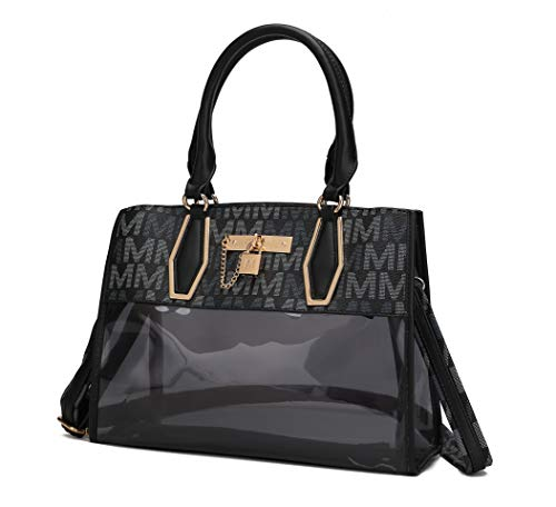NOTE: This bag is part of the MKF Collection by Mia K and has no association with Mia Farrow: CHIC AND STYLISH: The Shaunna designer handbag shows off the women's clear purse trend at its best. Items are easy to see and reach. STAY ORGANIZED: Tote to...